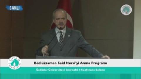Bediüzzaman Said Nursi'yi Anma Programı Giriş konuşmaları (29/03/2016)