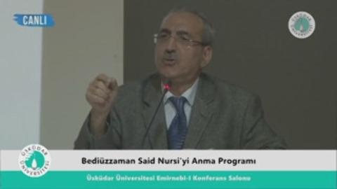 Bediüzzaman Said Nursi'yi Anma Programı Giriş konuşmaları Doç.Dr.Niyazi Beki (29/03/2016)