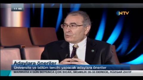 Prof. Dr. Nevzat Tarhan bugünün ve geleceğin mesleklerini NTV'de anlattı...