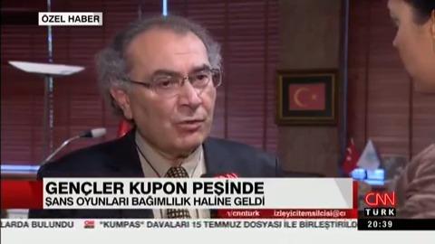 Öğrencilerde Şans Oyunları Bağımlılığı! Prof. Dr. Nevzat Tarhan CNNTÜRK'e Değerlendirdi.