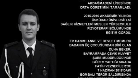 Şehit Polis Memuru Duha Beker Anısına