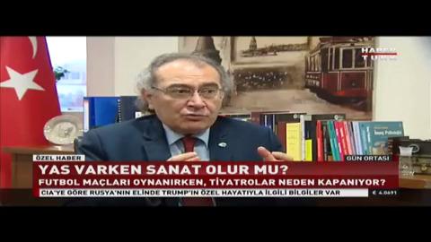 Yas varken sanat olur mu? Prof. Dr. Nevzat Tarhan Habertürk'e değerlendirdi.