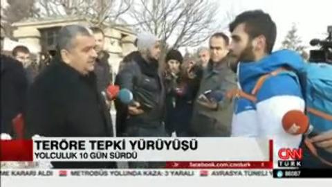 Teröre tepki için İstanbul'dan Ankara'ya yürüdü