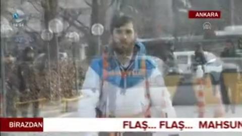 Üsküdar Üniversitesi öğrencisinden terörü protesto yürüyüşü