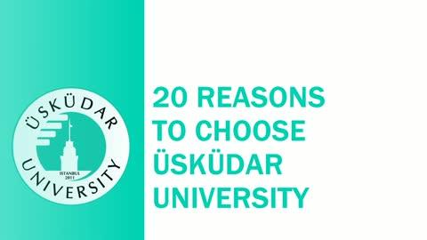 20 Reasons to choose Üsküdar University