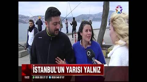 İstanbul'un yarısı yalnız!