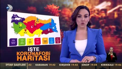 """Türkiye'nin """"Koronafobi"""" Haritası"""